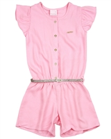 Quimby Girls Romper with Glittery Belt