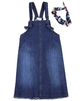 Quimby Girls Denim Dress with Headband
