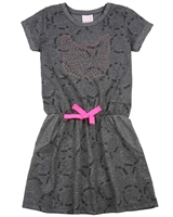 Quimby Girls Dress in Cats Print