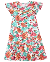 Quimby Girls Dress in Floral Print