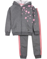 Quimby Girls Jogging Set with Stars Print