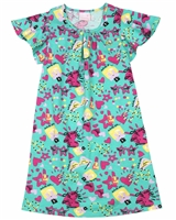 Quimby Girls Printed Jersey Dress in Green