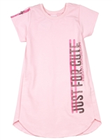 Quimby Girls T-shirt Terry Dress in Pink