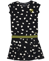Quapi Girl's Jersey Dress in Spot Print