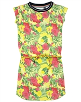 Quapi Girl's T-shirt Dress in Floral Print