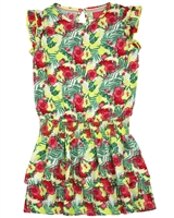 Quapi Girl's Dress in Floral Print