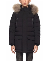 Rudsak Boys Down Parka with Fur Daboya