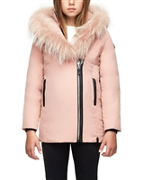 Rudsak Girls Down Jacket with Fur Melisma in Pink