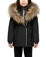 Rudsak Girls Down Jacket with Fur Melisma in Black