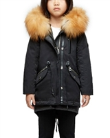 Rudsak Girls Convertible Down Coat Wave in Black