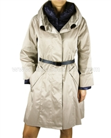 Silolona Women's Goose Down Trench Coat