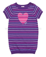 s.Oliver Baby Girls Striped Knit Dress with Hear