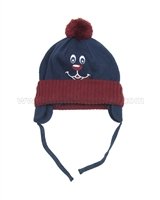 s.Oliver Baby Boys' Pompom Hat with Dog Motif