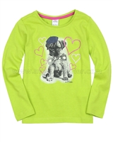 s.Oliver Girls' Top with a Dog Print