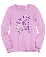 s.Oliver Girls' Sweater with Pony Motif