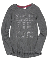 s.Oliver Junior Girls' Long Sleeve Top with Statement