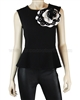 Siste's Women's Top with Flower Black