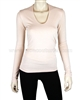 Siste's Women's Deep Scoop Neck Top Blush