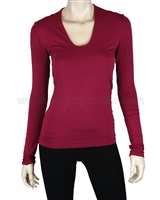 Siste's Women's Deep Scoop Neck Top Pomagranate