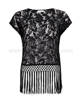 SuperTrash Womens Lace Top Turi