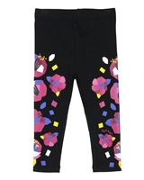 Tuc Tuc Little Girl's Leggings in Abstract Floral Print
