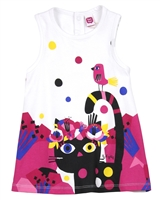 Tuc Tuc Little Girl's Jersey Dress with Cat Print