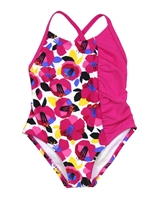 Tuc Tuc Little Girl's Swimsuit in Abstract Floral Print
