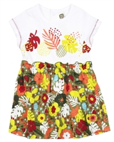 Tuc Tuc Little Girl's Jersey Dress in Jungle Print