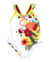 Tuc Tuc Little Girl's Swimsuit in Jungle Print