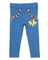 Tuc Tuc Little Girl's Leggings with Fringe