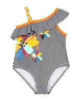 Tuc Tuc Little Girl's Striped Swimsuit