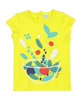 Tuc Tuc Little Girl's T-shirt with Fruits Print