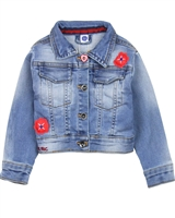 Tuc Tuc Little Girl's Jogg Jean Jacket with Ruffle