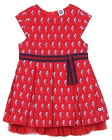 Tuc Tuc Little Girl's Pleated Dress with Tulle