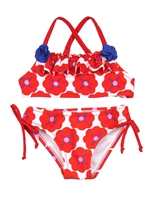 Tuc Tuc Little Girl's Bikini in Poppies Print
