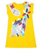 Tuc Tuc Little Girl's T-shirt Dress with Dinosaur Print