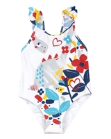 Tuc Tuc Little Girl's Swimsuit with Criss-cross Back