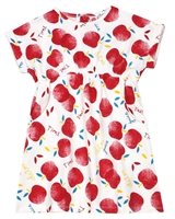 Tuc Tuc Little Girl's Jersey Dress in Apple Print