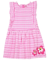 Tuc Tuc Little Girl's Check Dress with Flowers