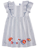 Tuc Tuc Little Girl's Stripe Dress with Embroidery