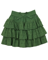 Tuc Tuc Girl's Tiered Eyelet Skirt