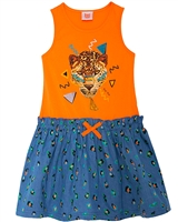 Tuc Tuc Girl's Chambray and Jersey Dress
