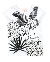 Tuc Tuc Girl's T-shirt with Animal Print