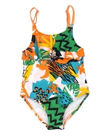 Tuc Tuc Girl's Swimsuit in Jungle Print