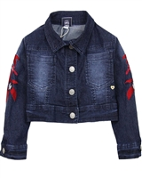 Tuc Tuc Girl's Denim Jacket with Embroidery