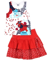 Tuc Tuc Girl's Tank Top and Skirt Set