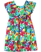 Tuc Tuc Girl's Dress in Tropical Floral Print