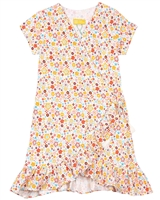 Tuc Tuc Girl's Wrap Jersey Dress in Floral Print