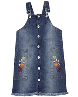 Tuc Tuc Girl's Denim Pinafore Dress