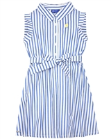 Tuc Tuc Girl's Striped Poplin Shirt Dress